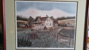 """Catherine Karnes Munn signed and numbered print """"The Homestead"""""""