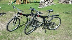 2 Folding Bikes, almost new 175$ each or 300$ for both OBO