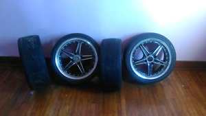Set of Konig Rims and Tires