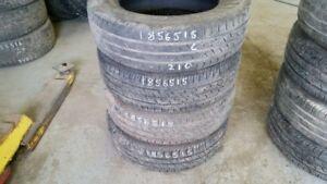 Set of 4 Continental ContiProContact 185/65R15 tires (60% tread