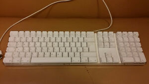 Apple clavier ordinateur blanc -
