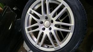 225/50/17 yokahama winter tires on oem audi rims