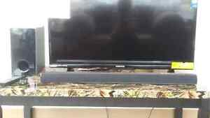 100w LG Sound Bar with Wired Subwoofer
