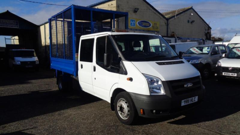 8d25b1a33a2bc6 Ford Transit Crew Cab Caged Tipper