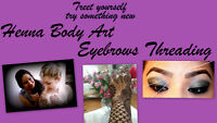Great Deal! Eyebrows Threading & Henna Tattoo Down Town