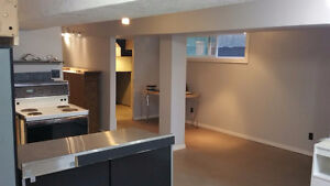 Inner City bachelor suite, lower level, bright, newly renovated
