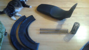 BMW F800GS seat, spring and tubes