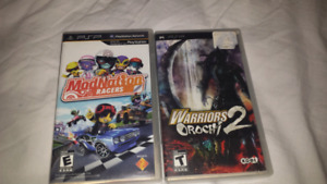 Two PSP games
