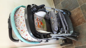 stroller, Car  seat and  base