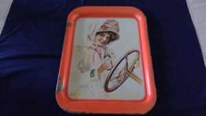 vintage coca-cola tray with nice graphics