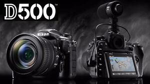 NIKON D500 BODY as new! Save the tax (~$551)