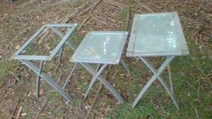 Table Coffee Table Set Side Table Outdoor Glass Metal Marsfield Ryde Area Preview