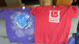 2 boys medium tshirts(Element,Burton)