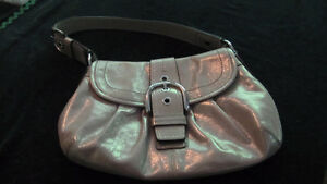 Summery hobo style authentic Coach silvery soft purse