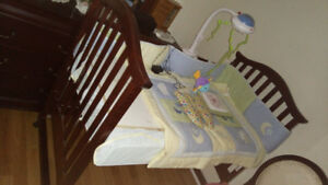Child Crib with full Bedding accessories & Child music player