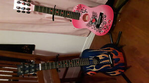 His and hers guitars and stands!