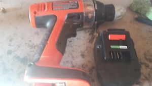 12v bllack and decker drill no charger new