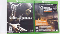 2 XBOX ONE GAMES- Mortal Kombat X and State of Decay