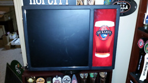 Rickards red light up chalkboard beer sign