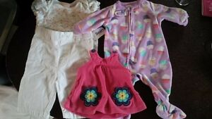 Baby Girls Clothes + Snowsuits (and two toys)