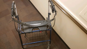 Heavy-Duty Wheeled Walker For Large Person