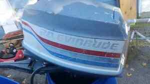 1977 20hp Evinrude outboard