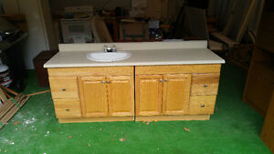 Bathroom Vanity - Maple wood and MDF