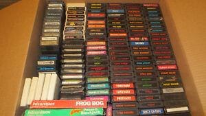 Huge Lot of 134 Video Games Mostly Atari 2600 Ect.
