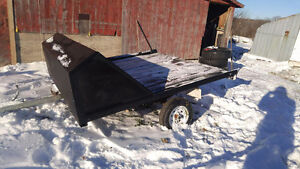 8x8 double tilt. Sled trailer