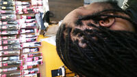 dreadlocks, braids, weaves and more. African hair stylist.