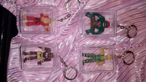 4 porte-clés Street fighter 2 figure keychains ** I SHIP***