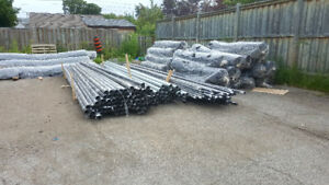 Chain link fence mesh, terminal post and pipes & Installation