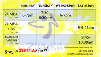 Zumba Classes 5 min from AtWater Metro. Exit Westmount Square