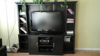 for sale television stand with book shelves
