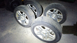 Chevy Impala and Mercedes tires