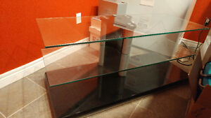 Glass TV stand table, great condition!