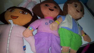 Large dora stuffies 5$/all OBO