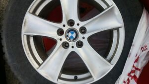 BMW studded winter tires on rims 4 Prince George British Columbia image 1