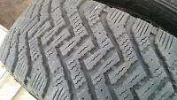4 x 235/65R17 GoodYear Nordic winter tires, over 80% tread left.