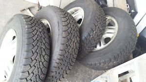 GOODYEAR NORDIC WINTER TIRES 215 70 15