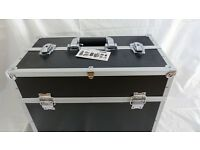 Albu Blackline equipment case with fold out variable compartments useful for Music,DJ,Samples etc