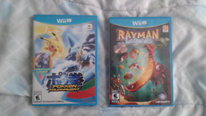 Pokken tournament and Rayman legends for wii u