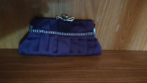 Dark purple clutch