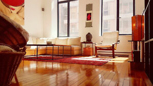 FULLY FURNISHED CONDO LOFT DOWNTOWN CENTRE-VILLE