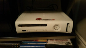 Xbox 360 with 4 controllers and games