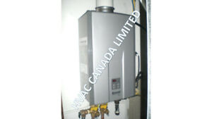 Rinnai tankless water heater service, installation & maintenance