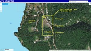 11.9 Acre Ranch Quesnel Lake & Cedar Creek Placer Gold Claims.
