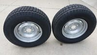 Snow tires and steel rims for Dodge Ram 1500