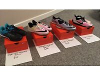 Football trainers. Nike 100% authentic. See pics for sizes and prices.