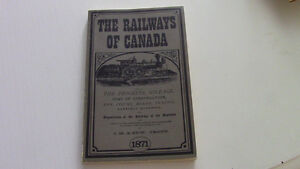 The Railways of Canada, M.M. & Edw. Trout, 1871, Reproduced Kitchener / Waterloo Kitchener Area image 1